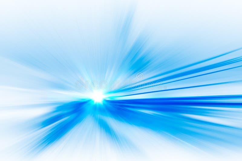 Abstrakcjonistyczny wysoki prędkość ruch w kierunku przyszłości obraz royalty free