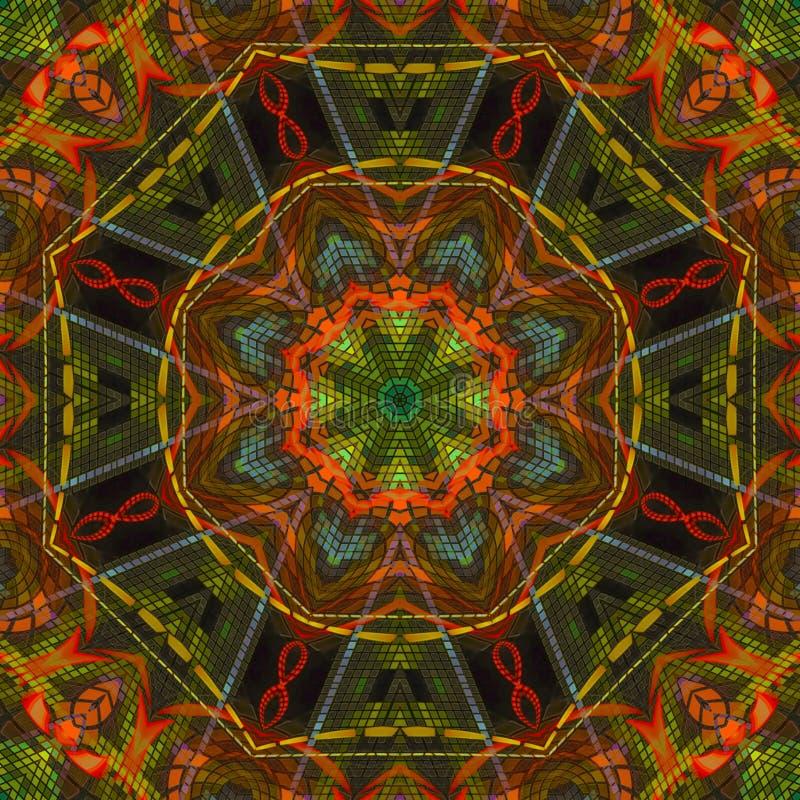 Abstrakcjonistyczny wystroju kaleidoscop wzoru tekstury tło, piękny projekt, orientalny fotografia stock
