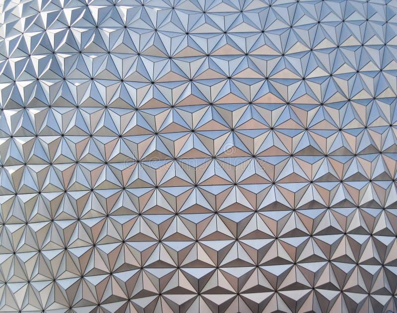 abstrakcjonistyczny wzoru srebra trójbok obraz stock
