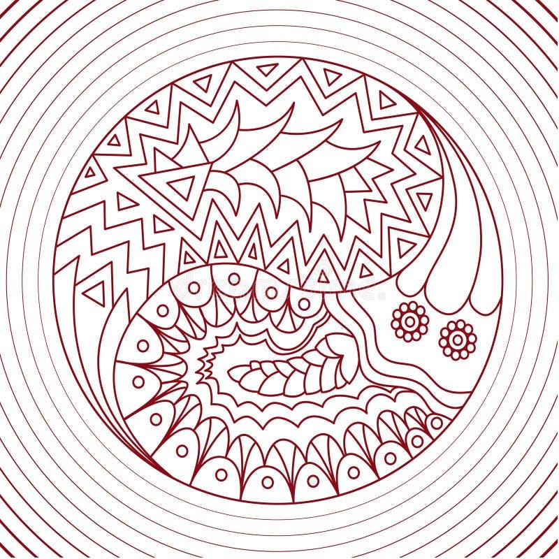 Abstrakcjonistyczny Yang ilustracja wektor