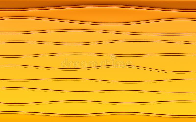 Abstrakcjonistyczny złocisty geometrical tło 3 d czynią ilustracji