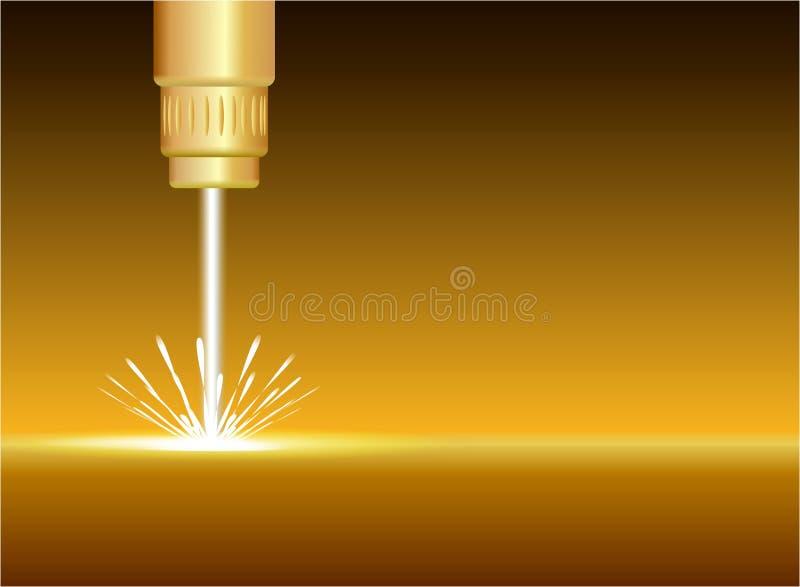 Abstrakcjonistyczny złocisty laserowy przemysł ilustracja wektor