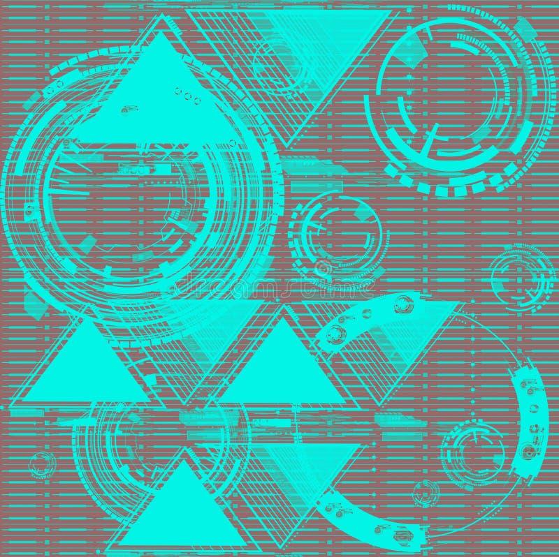 Abstrakcjonistyczny złocisty szary czerń wykłada bezszwowego wzór Tapeta czarny i biały Ręki rysować grafika ilustracji