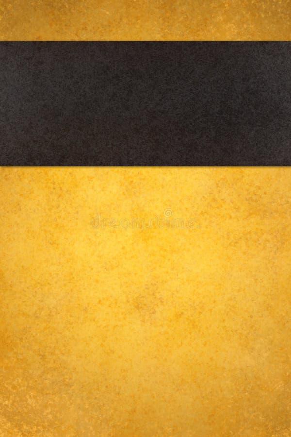 Abstrakcjonistyczny złocisty tło z czarnym lampasem zdjęcia royalty free