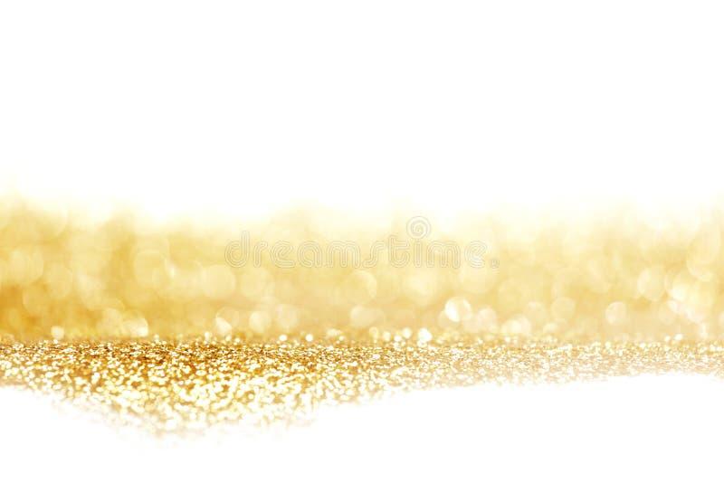 Abstrakcjonistyczny złoty błyszczący tło obrazy stock