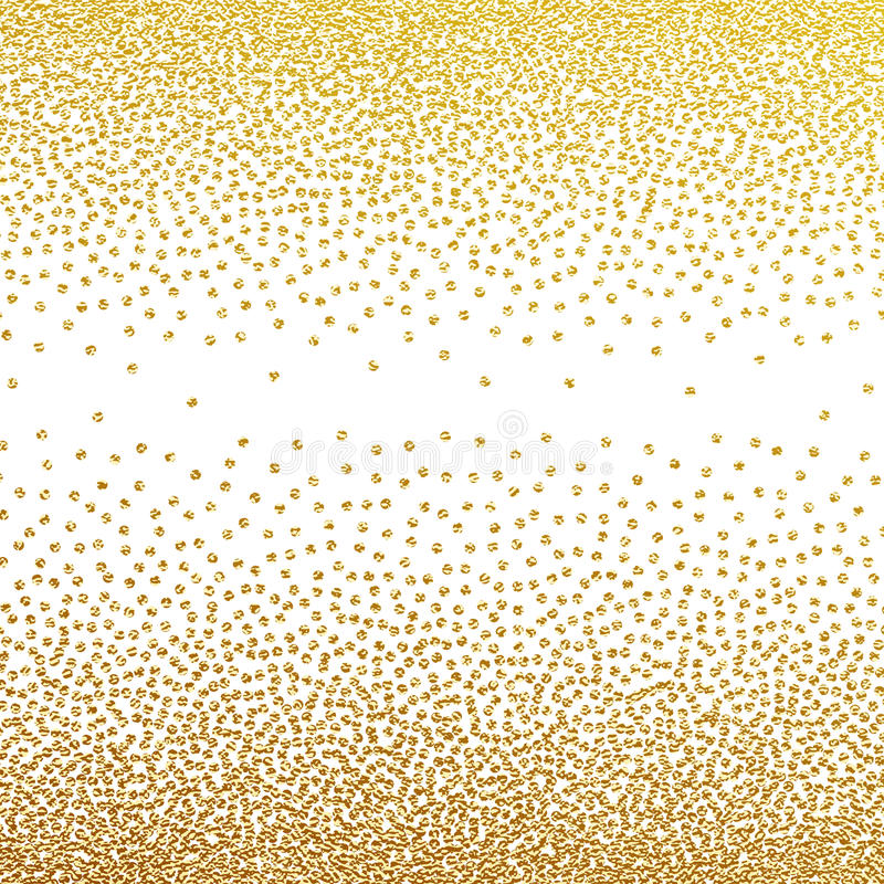 Abstrakcjonistyczny złoty cząsteczka wzór ilustracja wektor