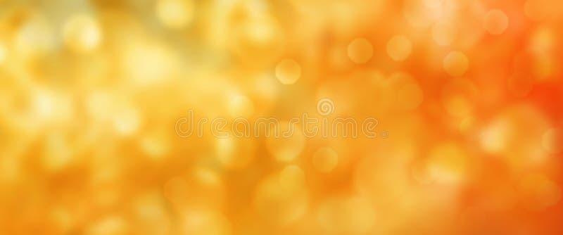 Abstrakcjonistyczny złoty jesieni bokeh tło zdjęcia royalty free
