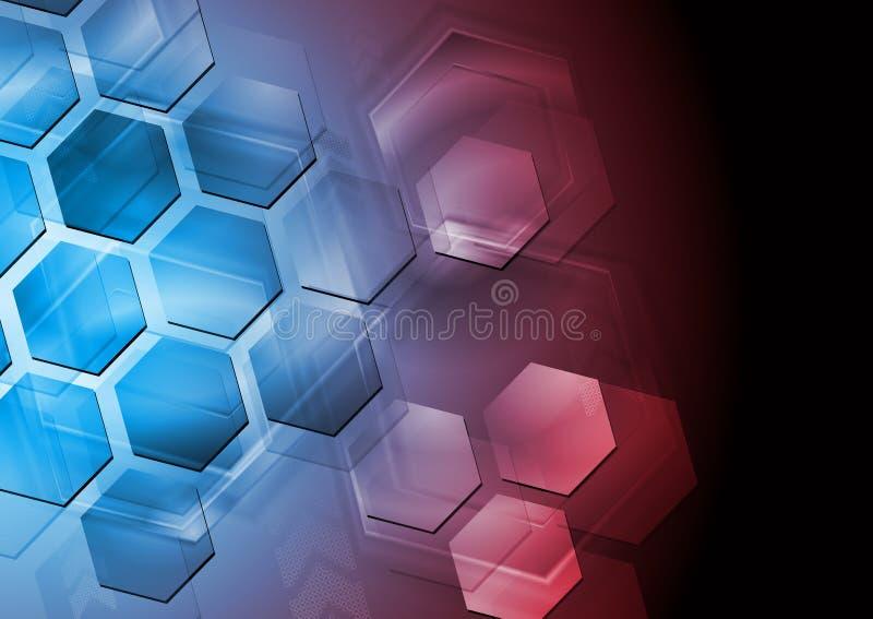 Abstrakcjonistyczny Zaawansowany Technicznie Projekt Obraz Stock