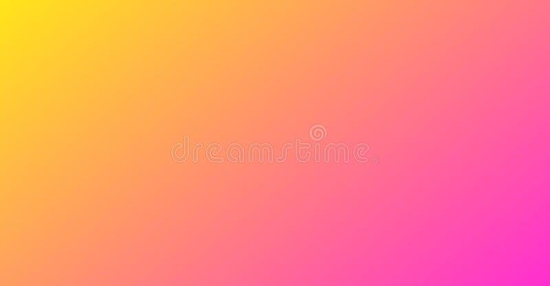 Abstrakcjonistyczny zamazany koloru żółtego i menchii gradient plakatowym sztandaru tła pojęciem obrazy stock