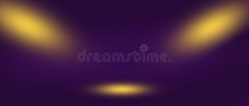 Abstrakcjonistyczny zamazany wizerunek scena zaświecał dwa światło reflektorów Podstawa dla projekta zdjęcia royalty free
