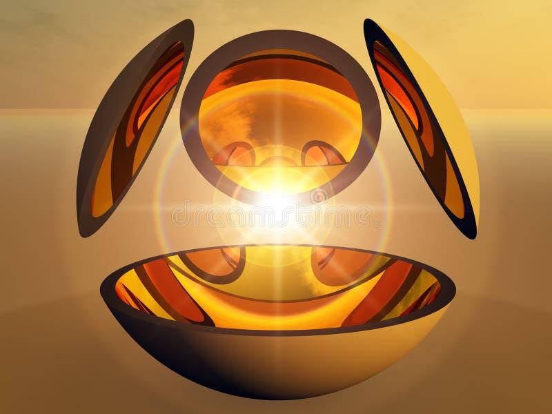 abstrakcjonistyczny zdobycza energii światło royalty ilustracja
