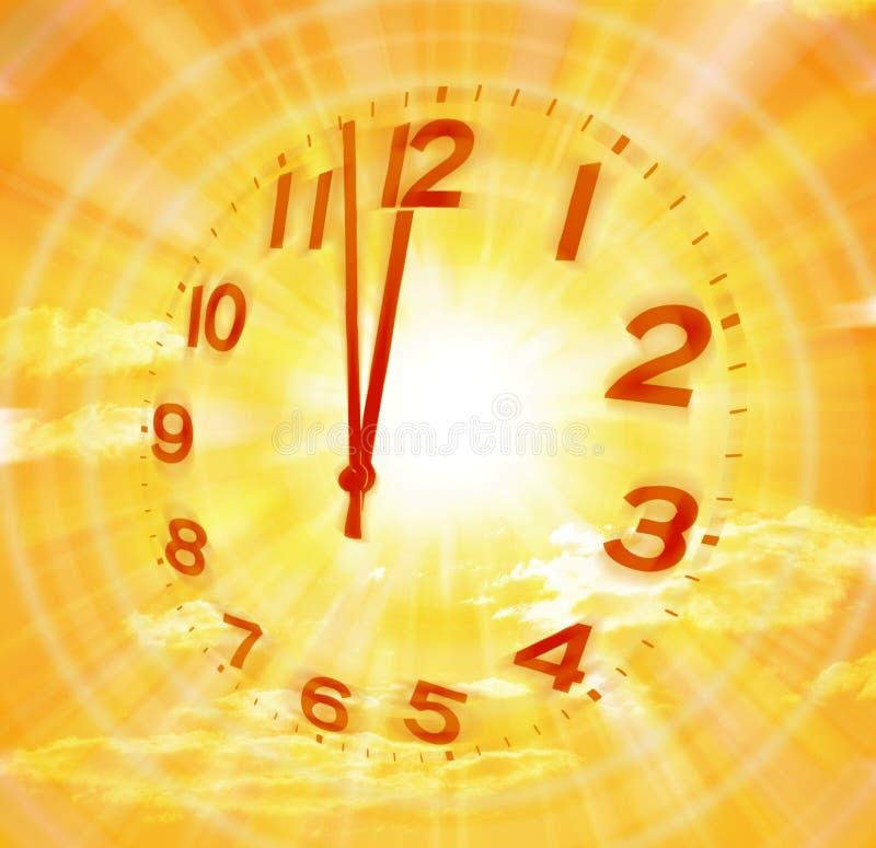 abstrakcjonistyczny zegarowy czas ilustracja wektor