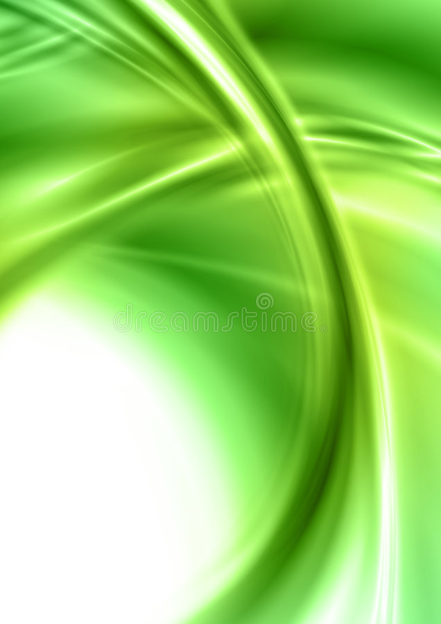 abstrakcjonistyczny zielony kształt ilustracji