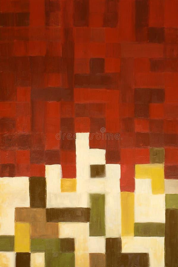 abstrakcjonistyczny zielony obrazu czerwieni kolor żółty ilustracja wektor
