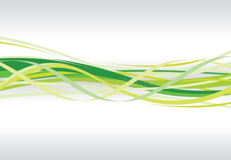 abstrakcjonistyczny zielony zawijas ilustracji