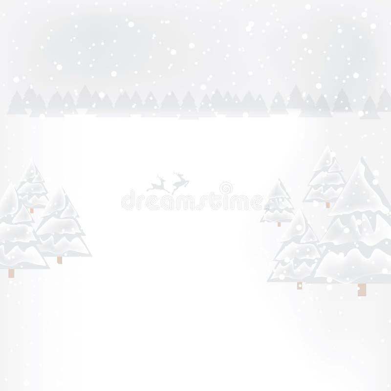 Abstrakcjonistyczny zim bożych narodzeń nowy rok royalty ilustracja
