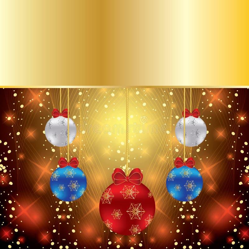 Abstrakcjonistyczny zima Bożych Narodzeń tło royalty ilustracja