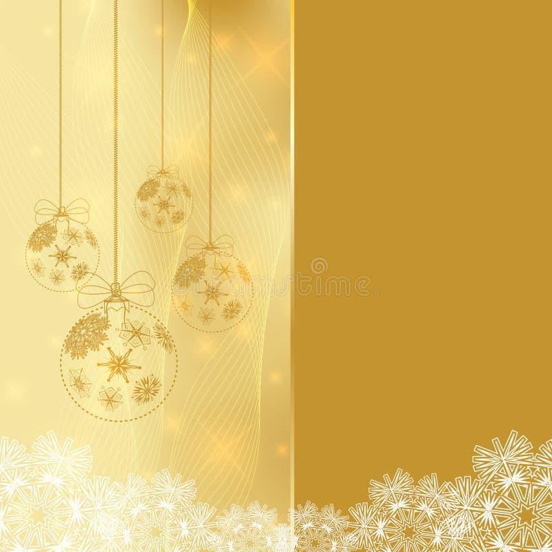 Abstrakcjonistyczny zima Bożych Narodzeń tło ilustracja wektor