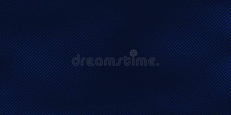 Abstrakcjonistyczny zmrok - błękitny tło z halftone wzoru bławą teksturą Kreatywnie okładkowy projekta szablon ilustracji