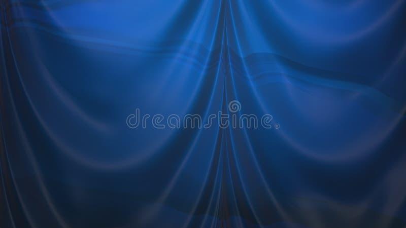 Abstrakcjonistyczny zmrok - błękitny atłas Drapuje ilustracji