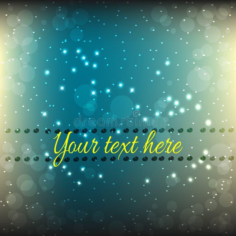 Abstrakcjonistyczny zmrok - błękitny tło z gwiazdami z przestrzenią dla teksta royalty ilustracja