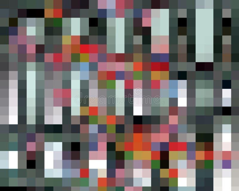 Abstrakcjonistyczny zmrok pomarańczowe białych kwadratów grafika, geometrie, tło i tekstura -, ilustracja wektor