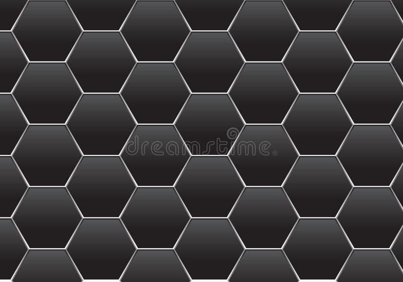 Abstrakcjonistyczny zmrok - szarego sześciokąta srebra linii siatki wzoru projekta tła tekstury wektoru nowożytna futurystyczna i ilustracja wektor