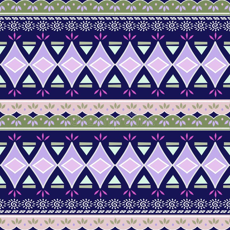 Abstrakcjonistyczny zygzakowaty wzór dla okładkowego projekta Retro szewronu wektoru tło Geometryczni dekoracyjni bezszwowi błęki ilustracji