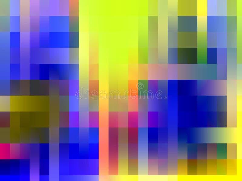 Abstrakcjonistycznych błękitnych kolor żółty menchii linii phosphorescent tło, grafika, abstrakcjonistyczny tło i tekstura, ilustracja wektor