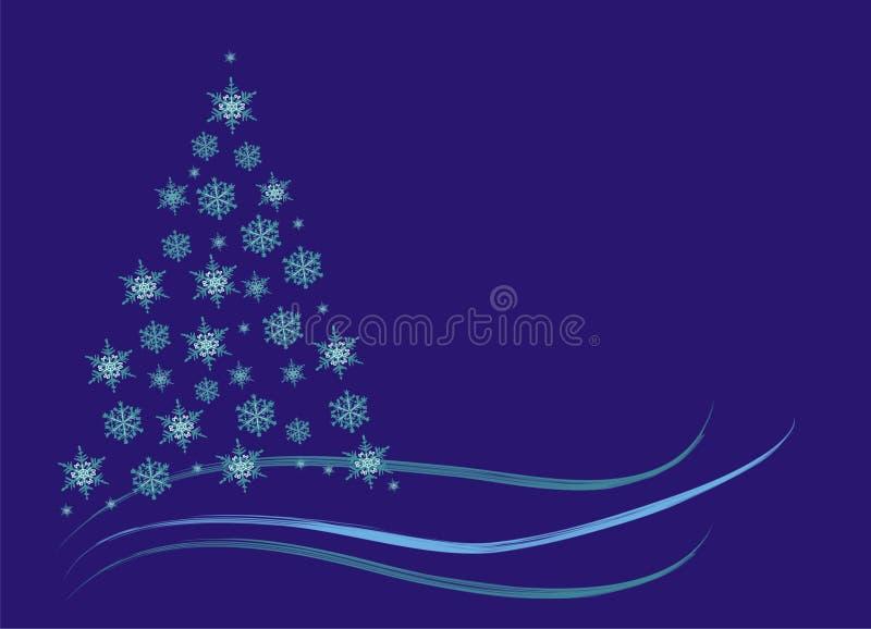 Abstrakcjonistycznych Bożych Narodzeń świerkowa Drzewna Zima Zdjęcia Royalty Free
