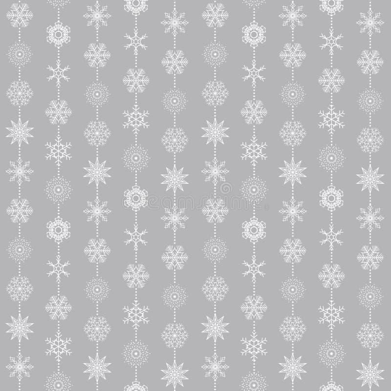 Abstrakcjonistycznych bożych narodzeń i nowego roku płatek śniegu Bezszwowy tło r?wnie? zwr?ci? corel ilustracji wektora ilustracji