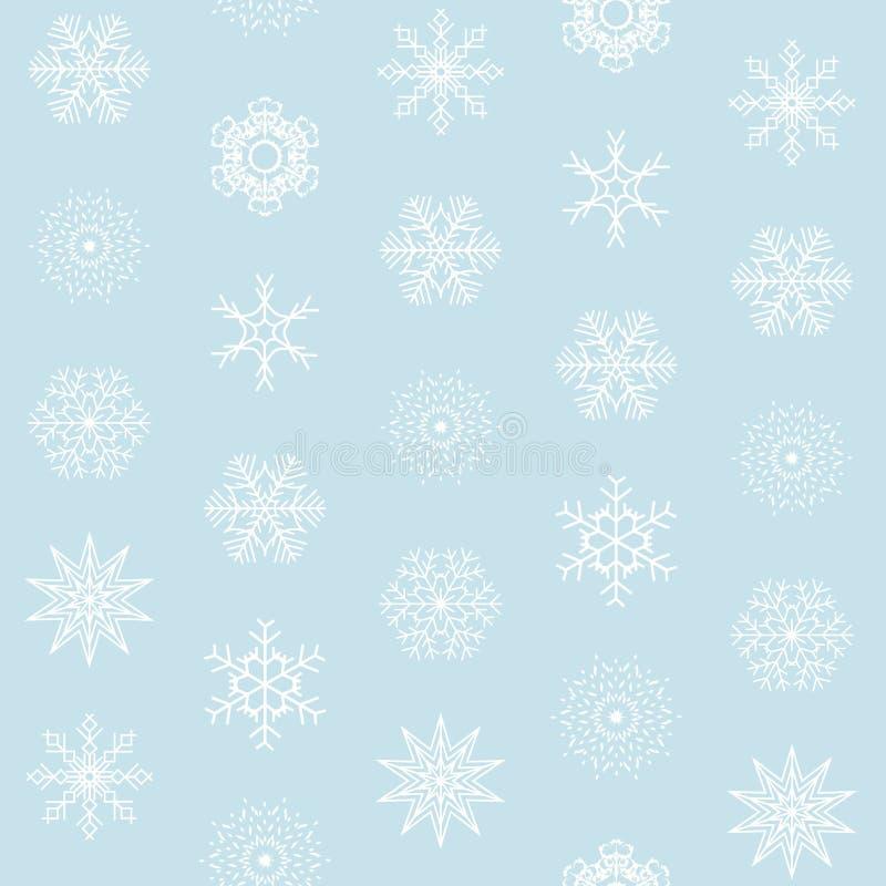 Abstrakcjonistycznych bożych narodzeń i nowego roku płatek śniegu Bezszwowy tło r?wnie? zwr?ci? corel ilustracji wektora ilustracja wektor