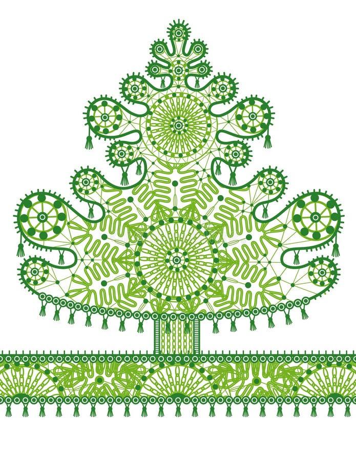 abstrakcjonistycznych bożych narodzeń koronkowy drzewo ilustracji
