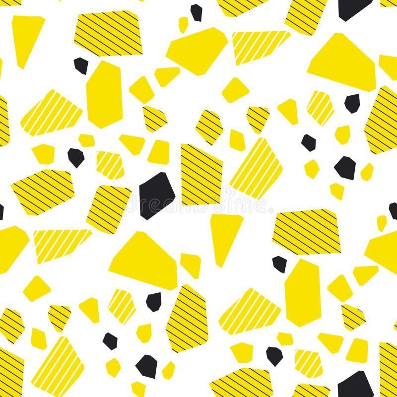 Abstrakcjonistycznych cząsteczek multicolor bezszwowy wzór ilustracja wektor