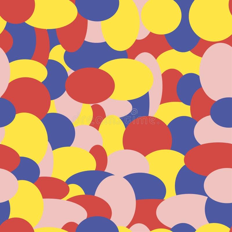 Abstrakcjonistycznych dziecko confetti wektorowy bezszwowy wzór ilustracja wektor