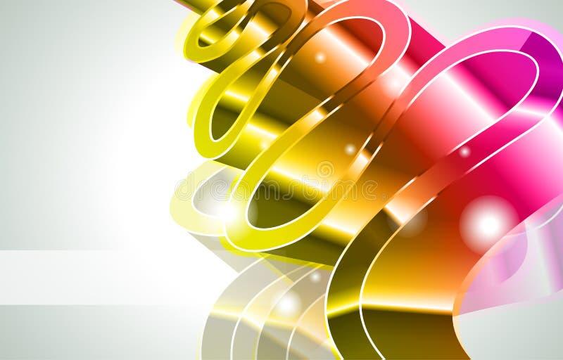 abstrakcjonistycznych genialnych colours jarzeniowi światła royalty ilustracja