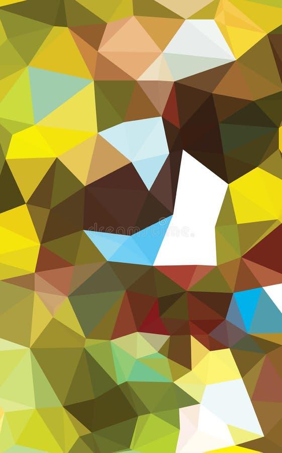 Abstrakcjonistycznych Geometrycznych tło pełny kolor royalty ilustracja