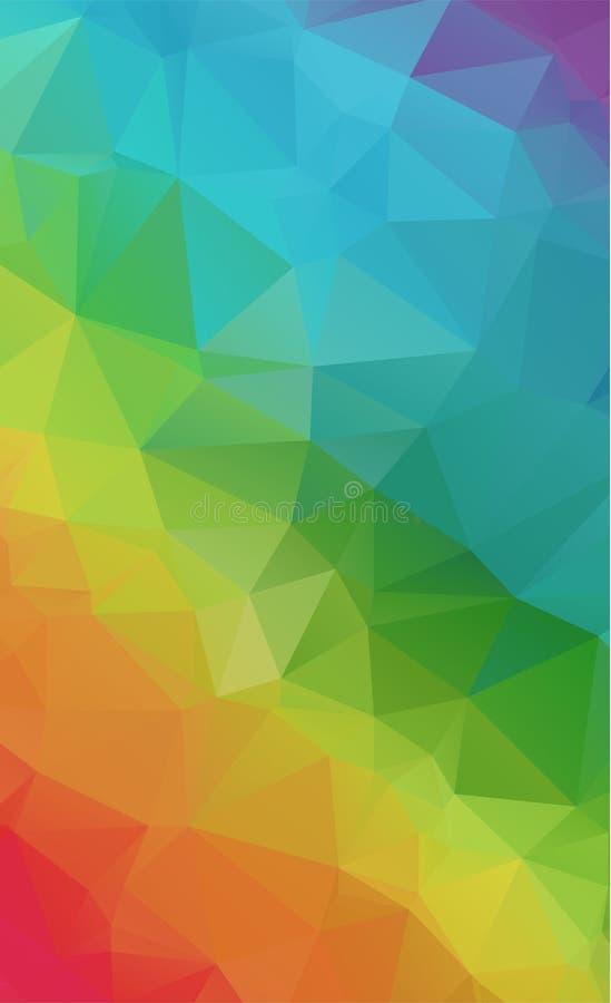 Abstrakcjonistycznych Geometrycznych tło pełny kolor ilustracji