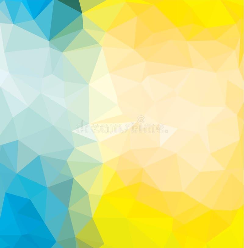 Abstrakcjonistycznych Geometrycznych tło pełny kolor ilustracja wektor