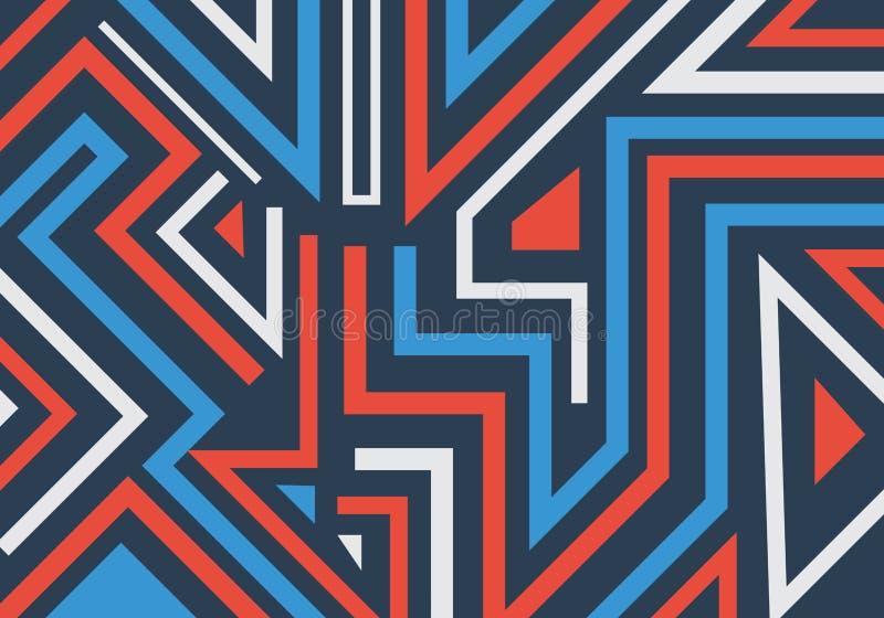Abstrakcjonistycznych graffiti geometryczni kształty i linie deseniują tło royalty ilustracja