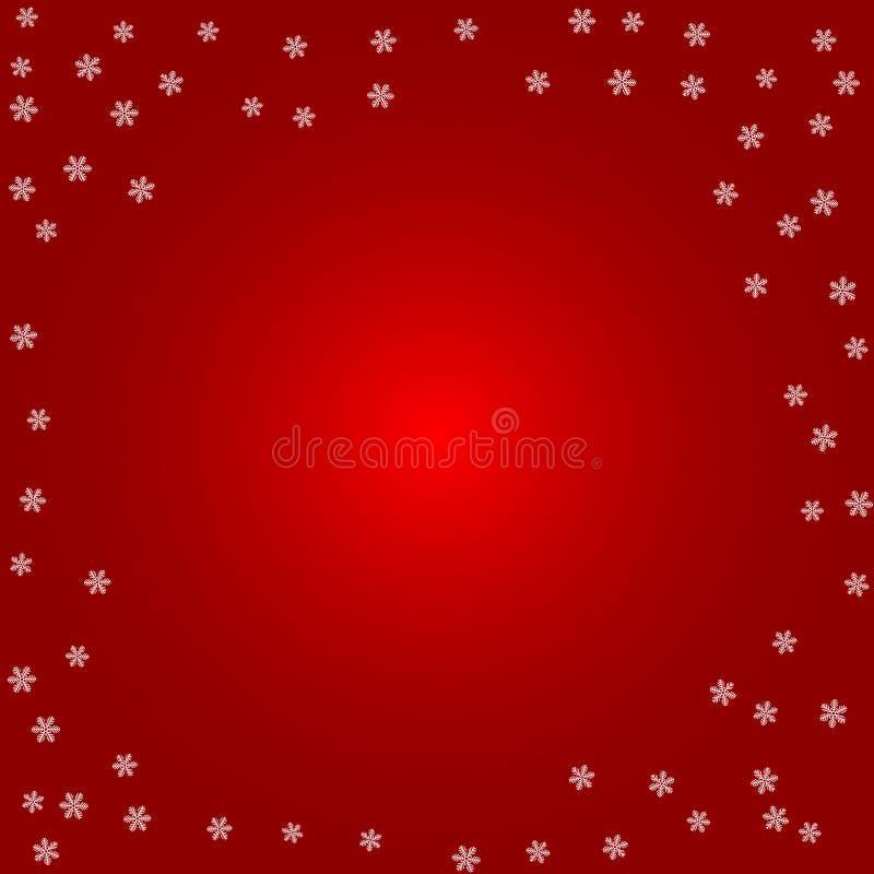 abstrakcjonistycznych gwiazdkę tła dekoracji projektu ciemnej czerwieni wzoru star white Biali płatki śniegu na czerwieni royalty ilustracja