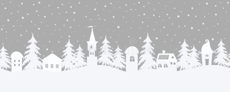 abstrakcjonistycznych gwiazdk? t?a dekoracji projektu ciemnej czerwieni wzoru star white Bajki zimy krajobraz rabatowy bezszwowy royalty ilustracja