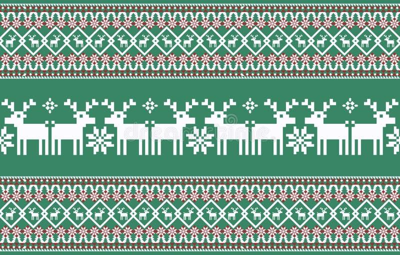abstrakcjonistycznych gwiazdk? t?a dekoracji projektu ciemnej czerwieni wzoru star white Trykotowy nowego roku wz?r ilustracji