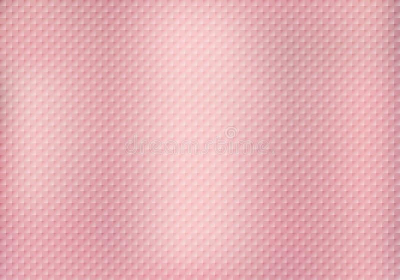 Abstrakcjonistycznych kwadratów deseniowa tekstura na różowym złocistym tle royalty ilustracja