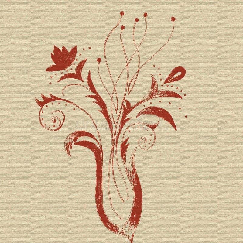 Abstrakcjonistycznych kwiatów projekta kreatywnie ręka rysująca royalty ilustracja
