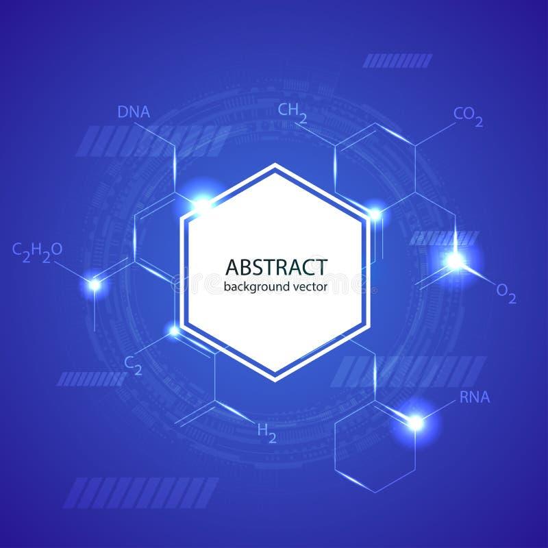Abstrakcjonistycznych molekuł medyczny tło ilustracja wektor