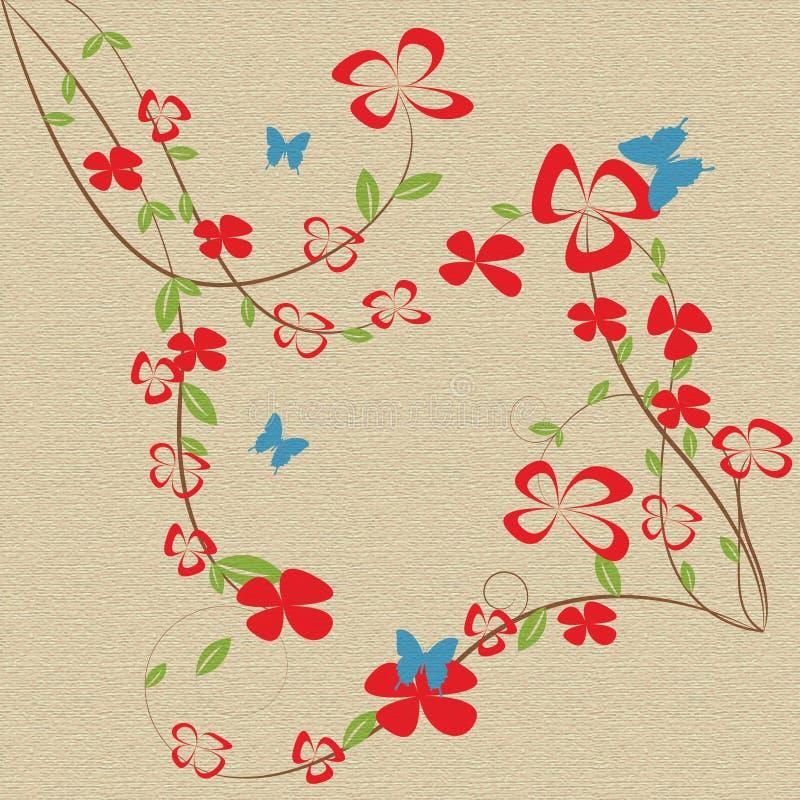 Abstrakcjonistycznych pięknych kwiatów kreatywnie projekt ilustracja wektor