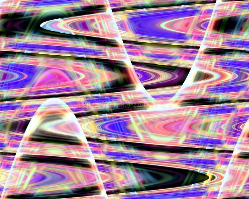 Abstrakcjonistycznych purpur menchii żółci błękitni rzadkopłynni kształty, grafika, geometrie, tło i tekstura, ilustracja wektor