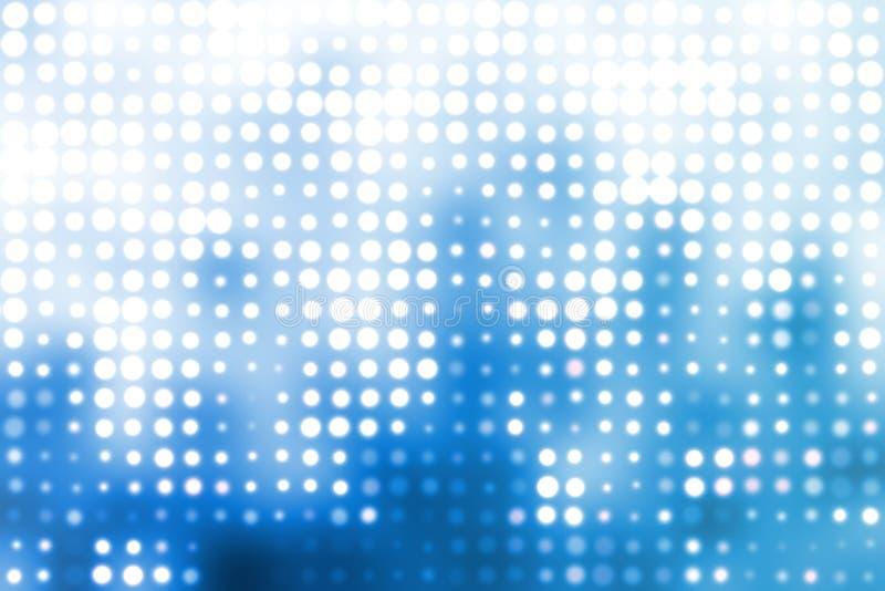 abstrakcjonistycznych tła błękitny okregów modny biel ilustracja wektor