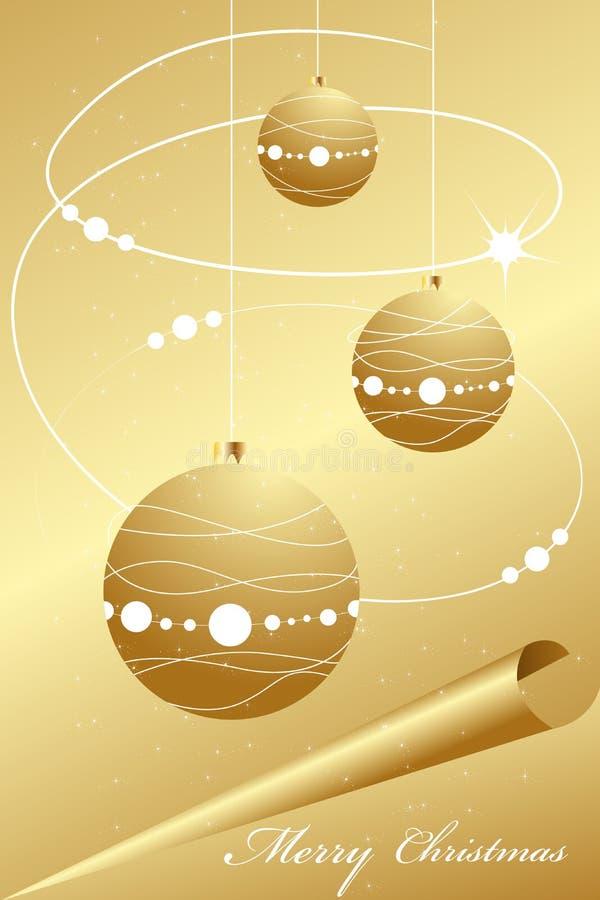 abstrakcjonistycznych tła bożych narodzeń elegancki złoto ilustracji